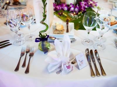Zürich Marriott Hotel: Hochzeitsfeier Tischdekoration