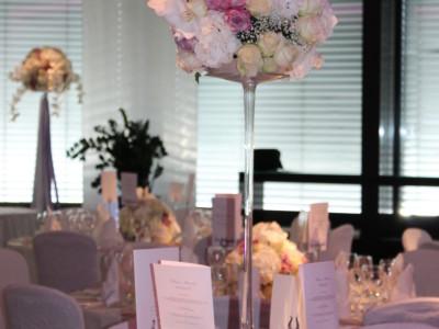 Zürich Marriott Hotel: Beispiel Tischdekoration für Ihre Hochzeitsfeier