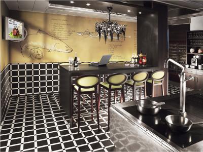 Zürich Marriott Hotel: Atelier für Kochklassen, Showküche