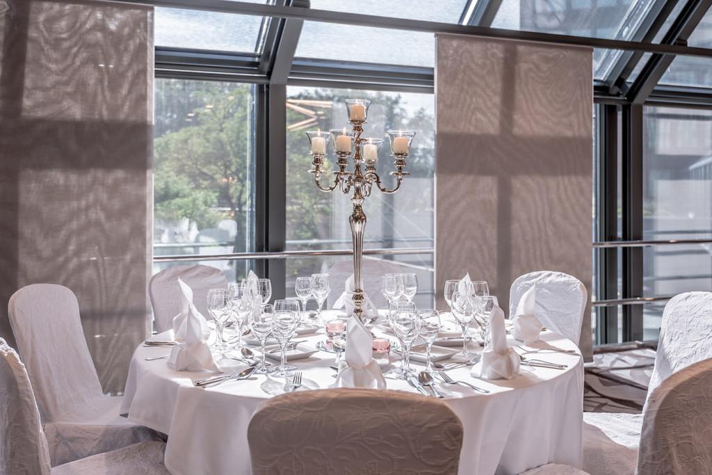 Tischdekoration Festbankett - Zürich Marriott Hotel